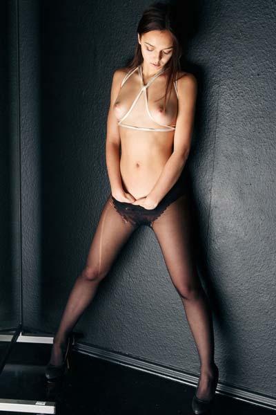 Model Karina Baru in The Mirror