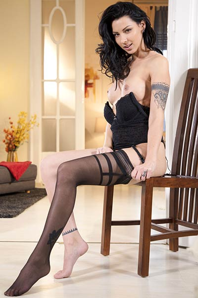 Model Cindy Hope in Stockings 1