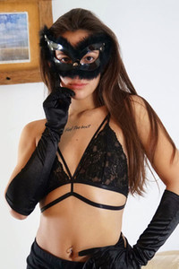 Model Katy A in Magical Gloves 1