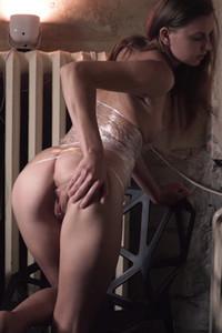 Model Lara A in Plastic Wrap 2