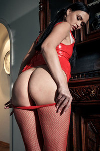 Model Gabby Bella in Latex With Stockings 1